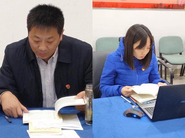 兴发娱乐xf811手机版旗美党支部的党员领读重点篇目.jpg